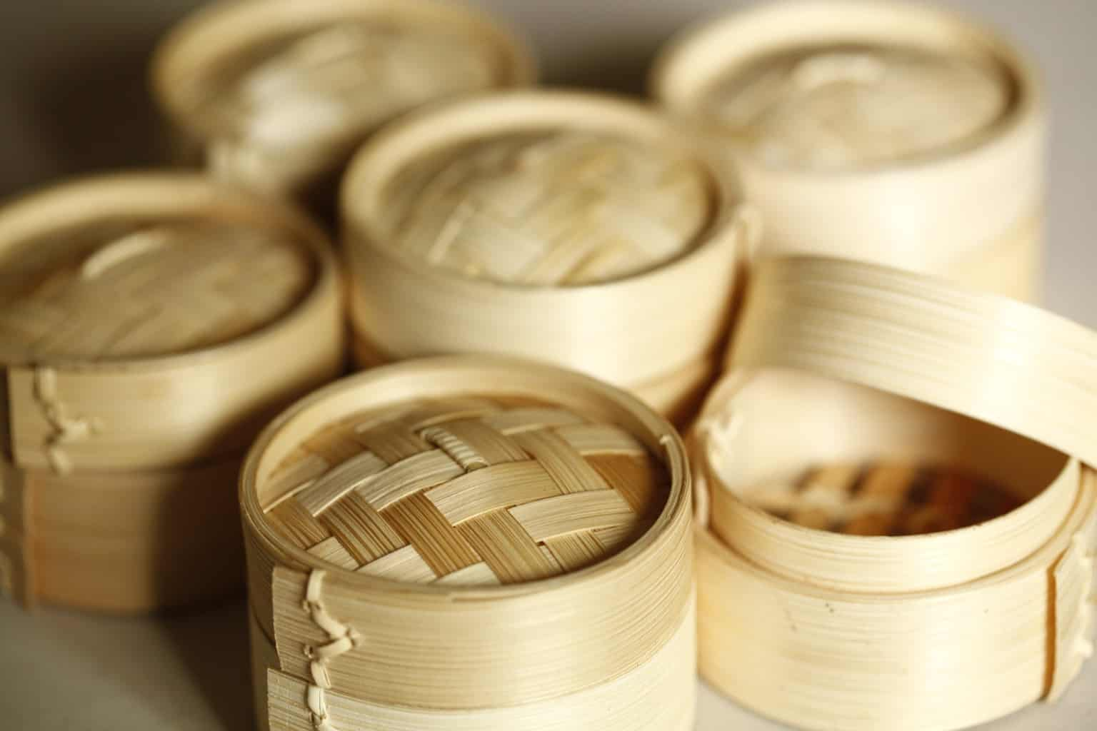 Smaller sized bamboo steamers