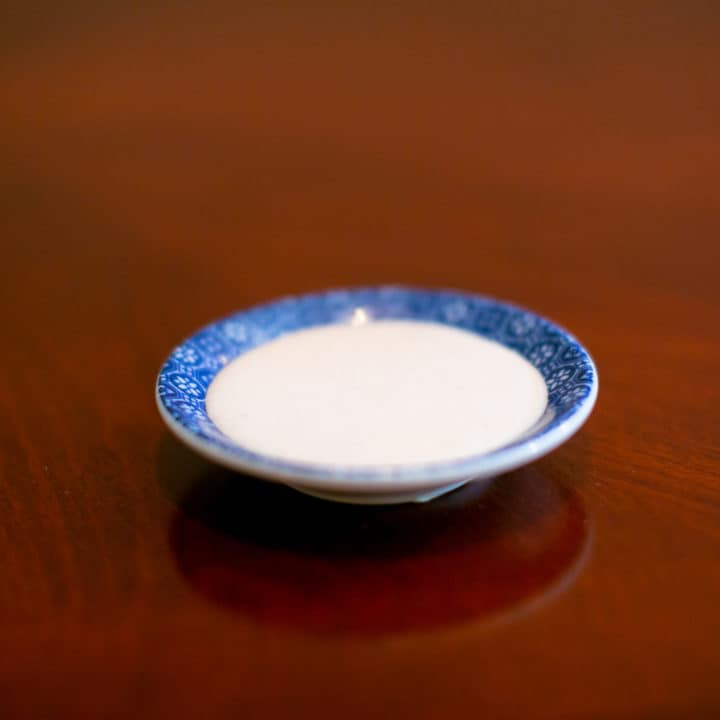 Japanese white sauce served in a saucer