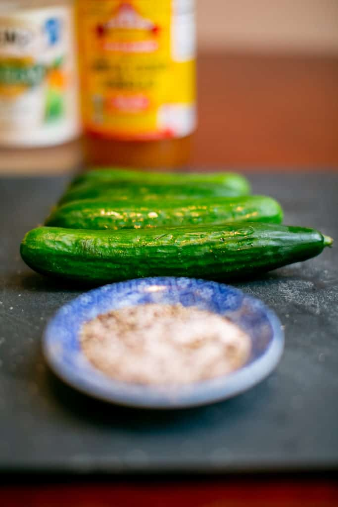 Photo of ingredients used to make a spicy pickle juice