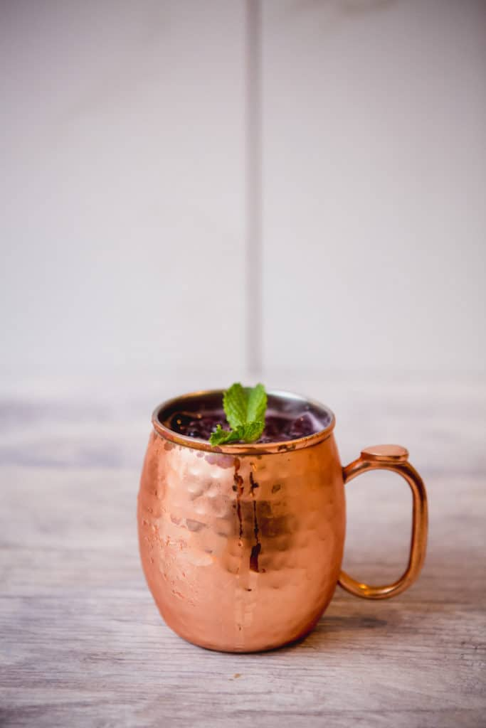 A mug of refreshing Moscow mule