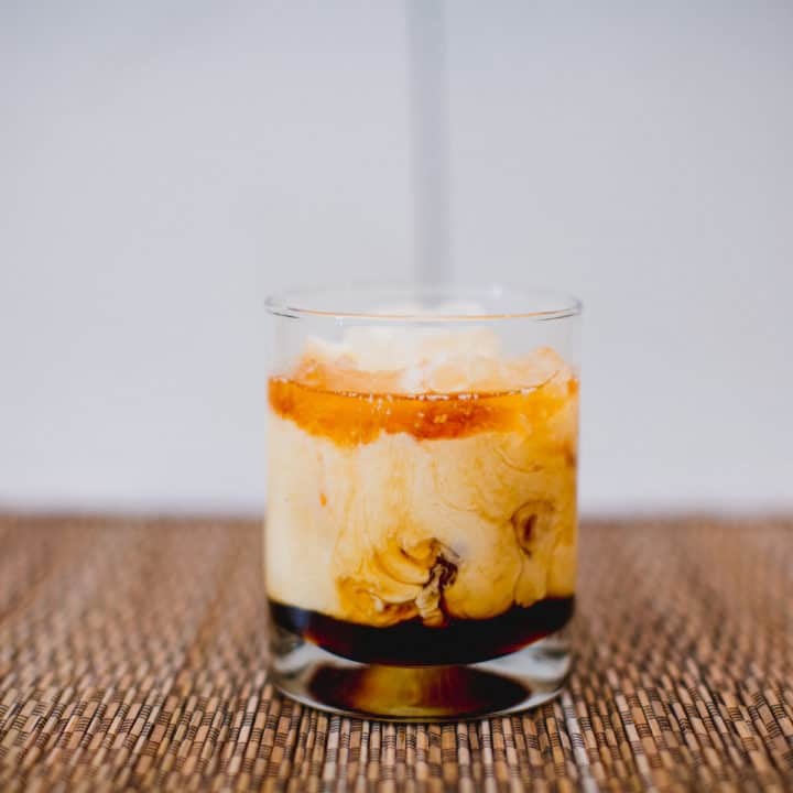 Eggnog White Russian Cocktail