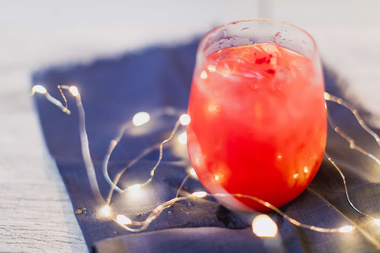 A glass of cranberry sea breeze cocktail
