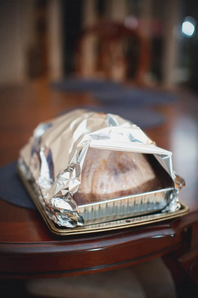 Turkey wrapped in foil