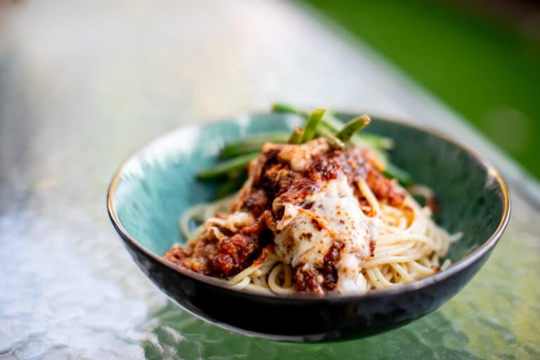 Recipe for Veal Parmesan with Spaghetti