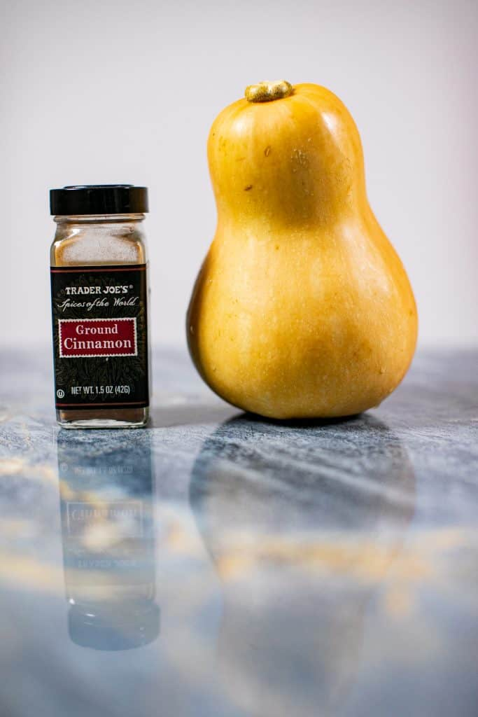 Butternut squash and cinnamon on a table